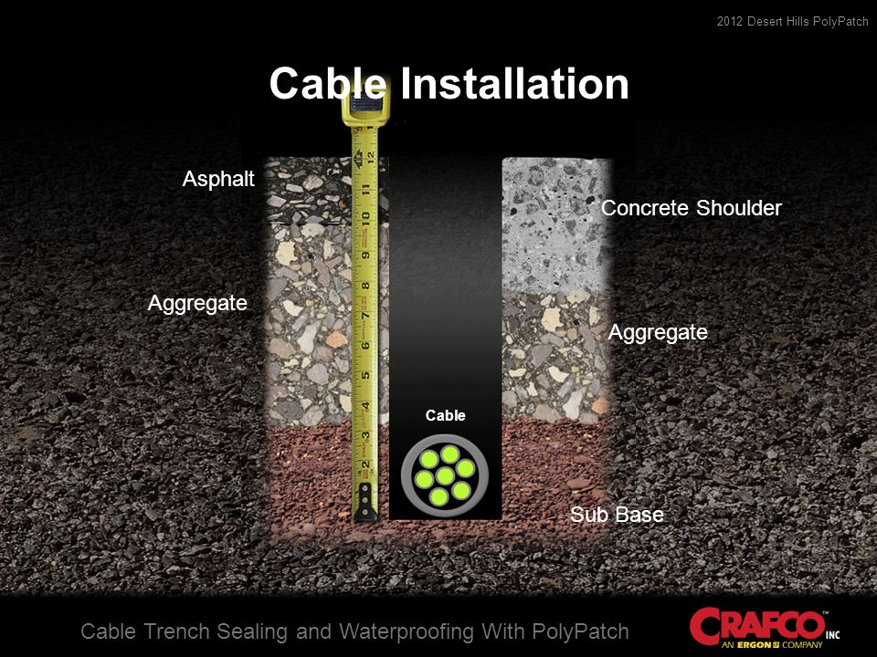 2012 Desert Hills PolyPatch Cable Trench Sealing and Waterproofing With PolyPatch Slurry Application