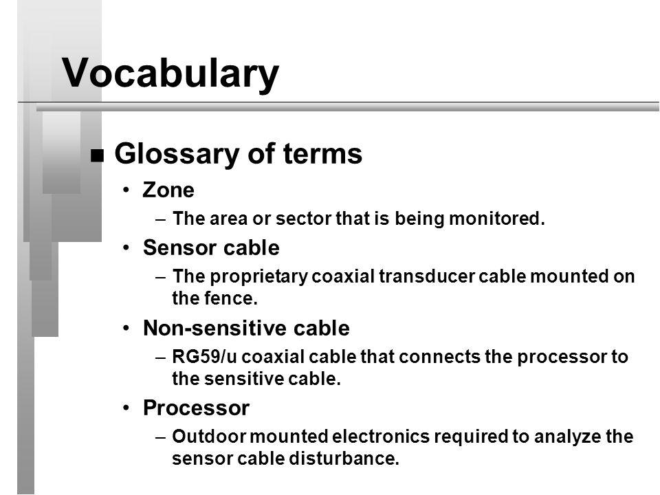 Equipment List n Intelli-FLEX System Elements Processor w/ enclosure and power supply & battery charger Program Module Sensor Cable Non-sensitive Cable Splice Kit Terminator Kit