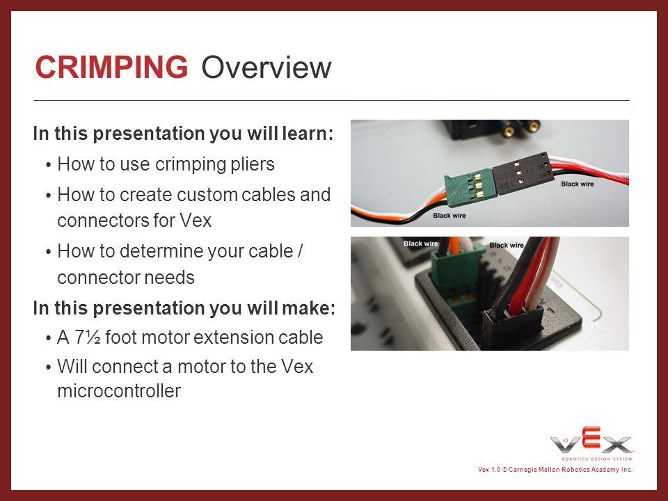 Vex 1.0 © Carnegie Mellon Robotics Academy Inc.Why.