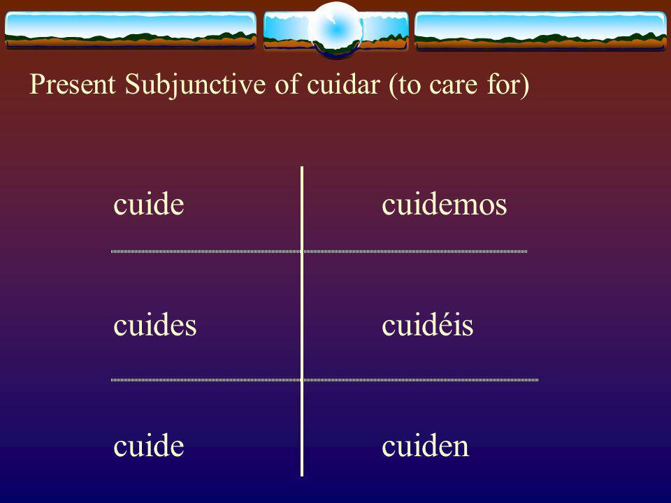 tengatengamos tengastengáis tengatengan Present Subjunctive of Tener