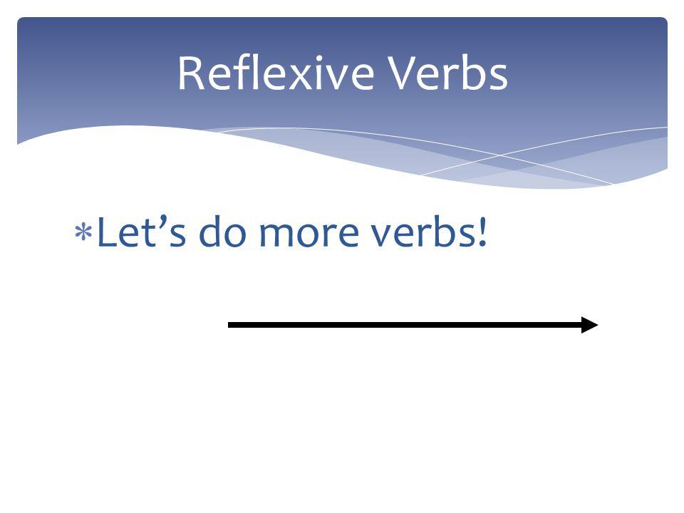 Before the verb: Me lavo el pelo. After the infinitive: Voy a lavarme el pelo. Reflexive Pronouns
