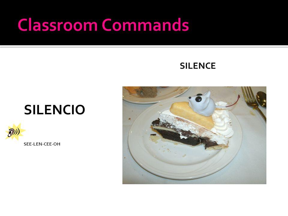 SILENCIO SEE-LEN-CEE-OH SILENCE