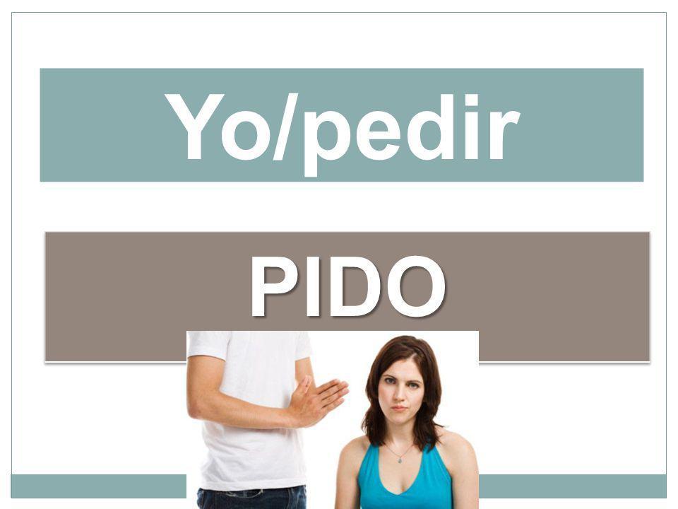 Yo/pedir