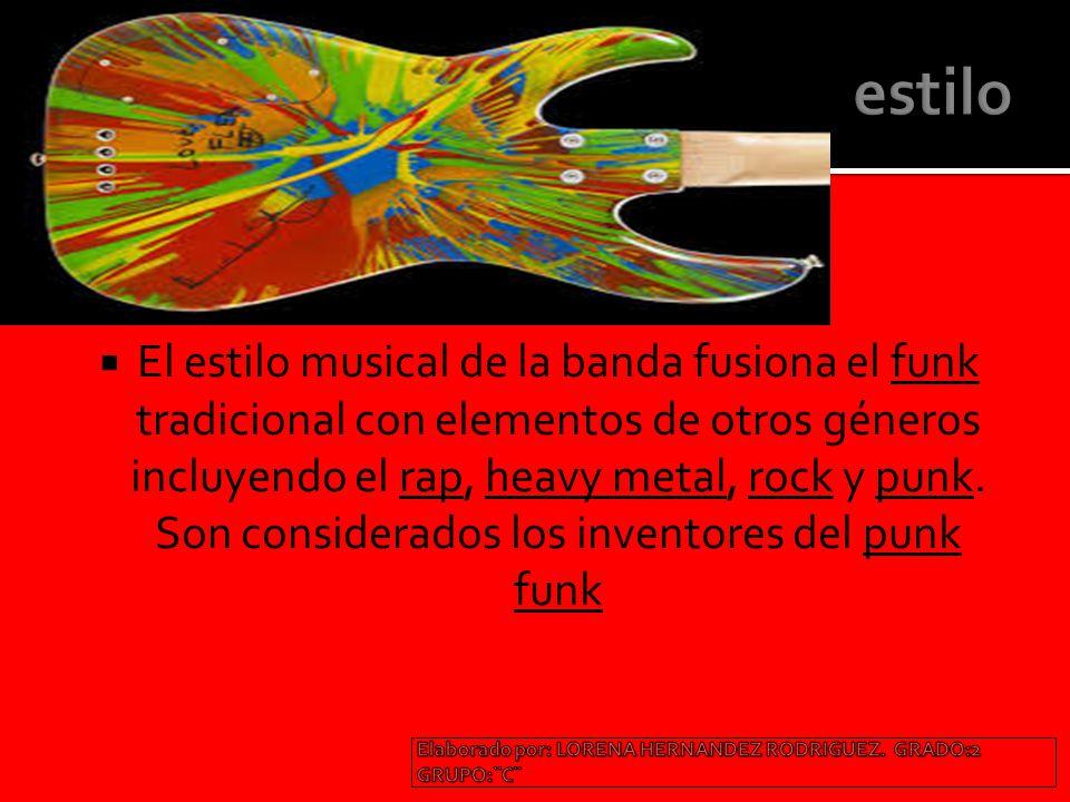 El estilo musical de la banda fusiona el funk tradicional con elementos de otros géneros incluyendo el rap, heavy metal, rock y punk.