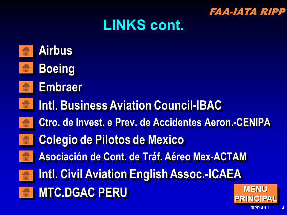 FAA-IATA RIPP RIPP 4.1 L4 LINKS cont. Airbus Boeing Embraer Intl.