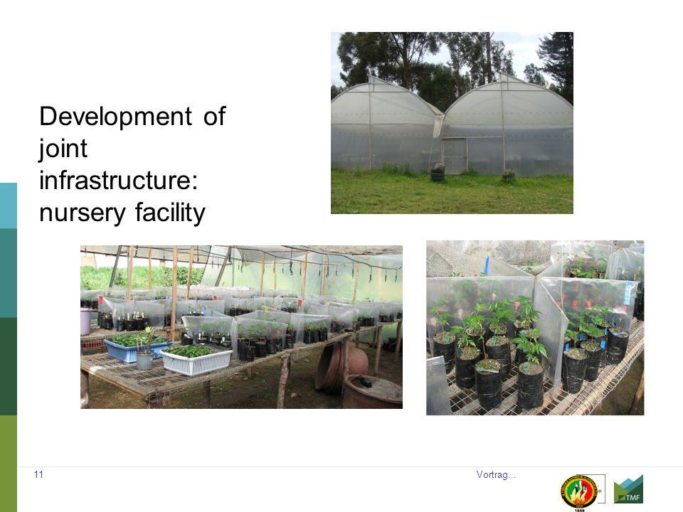 Vortrag... 11 Development of joint infrastructure: nursery facility