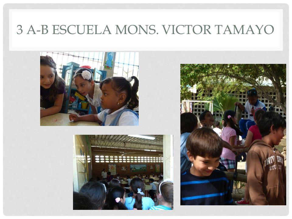 3 A-B ESCUELA MONS. VICTOR TAMAYO