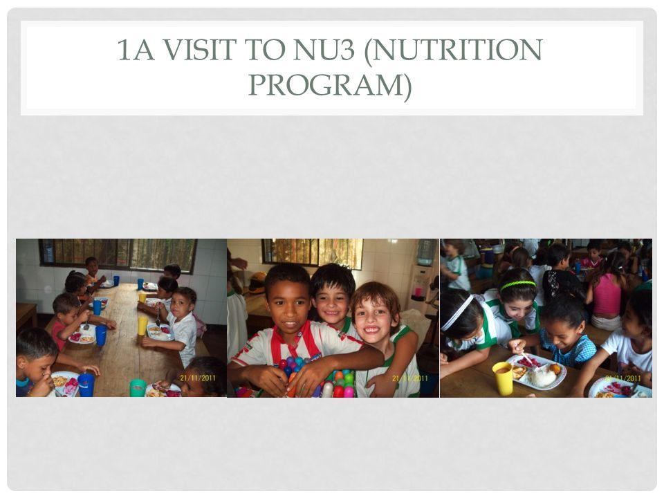 1A VISIT TO NU3 (NUTRITION PROGRAM)