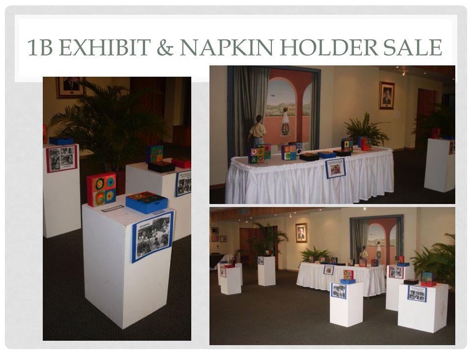 1B EXHIBIT & NAPKIN HOLDER SALE