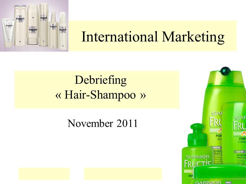 International Marketing Debriefing « Hair-Shampoo » November 2011
