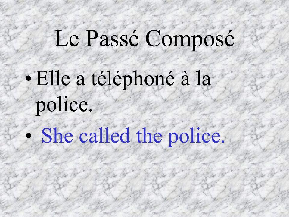 Le Passé Composé Elle a téléphoné à la police. She called the police.