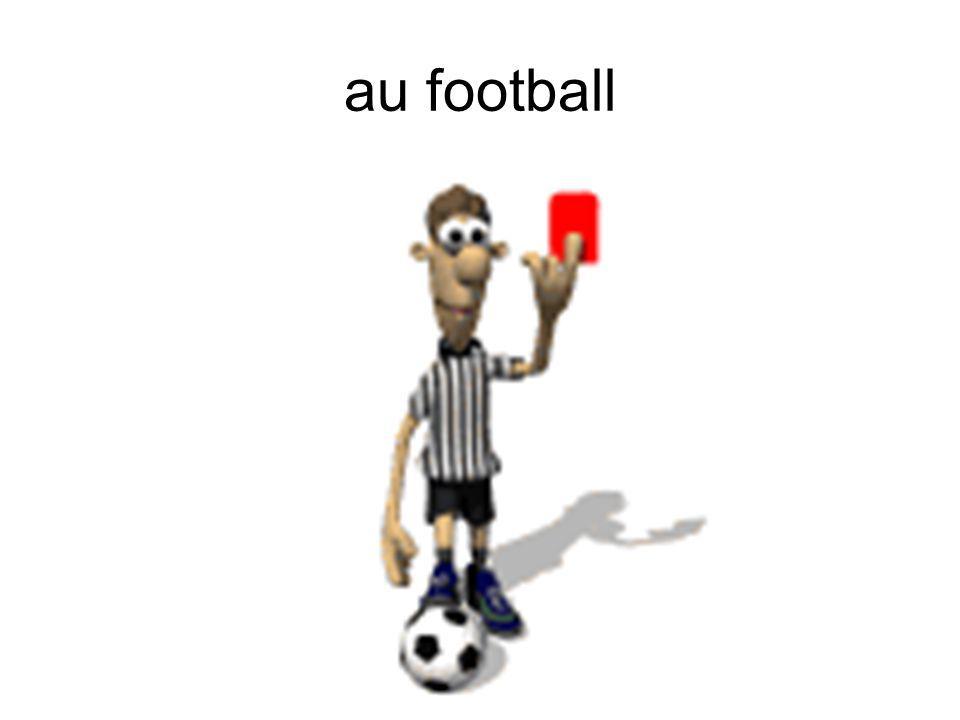 au football