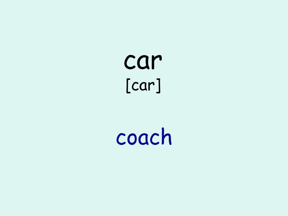 car [car] coach