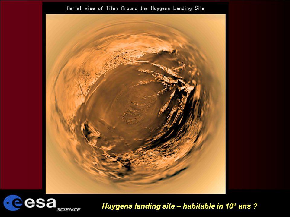 Huygens landing site – habitable in 10 9 ans ?
