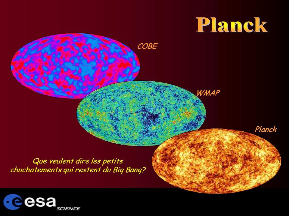 Que veulent dire les petits chuchotements qui restent du Big Bang COBE WMAP Planck
