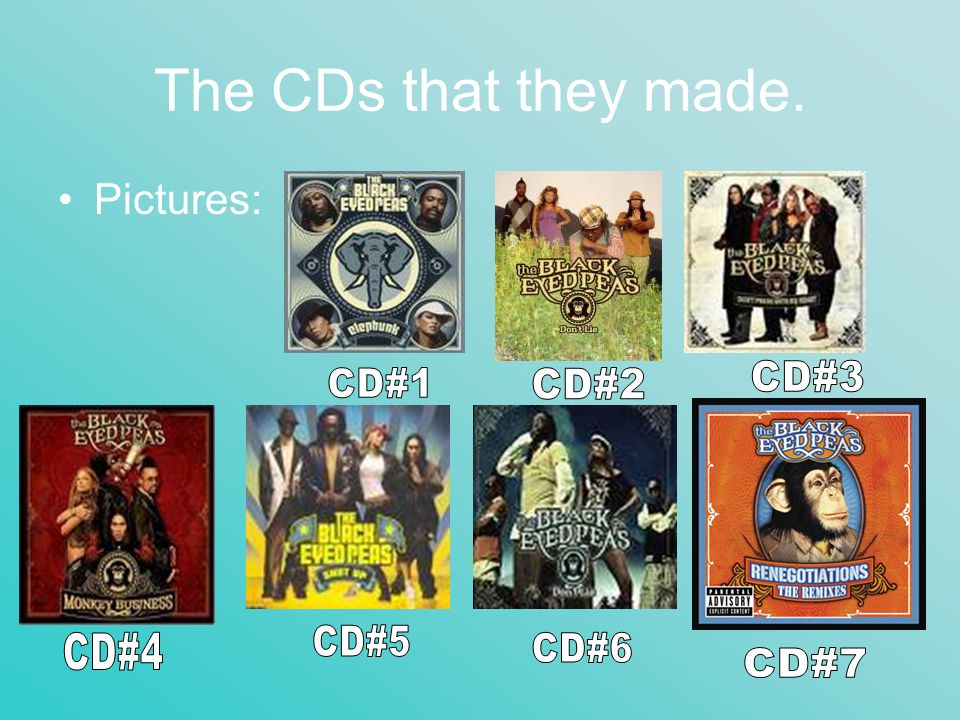 The CDs that they made. Pictures: