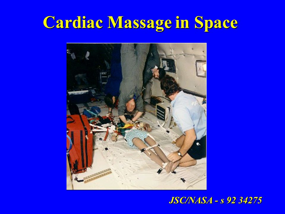 Cardiac Massage in Space JSC/NASA - s 92 34275