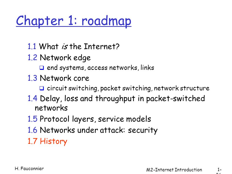 M2-Internet Introduction Chapter 1: roadmap 1.1 What is the Internet.