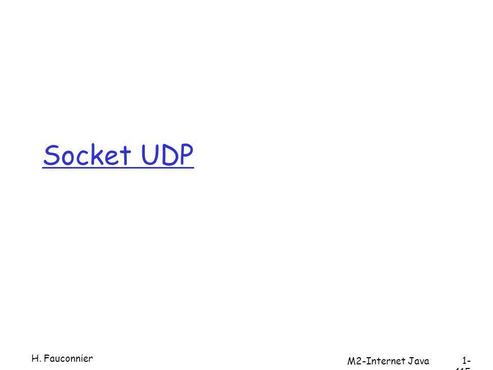 Socket UDP H. Fauconnier 1- 115 M2-Internet Java