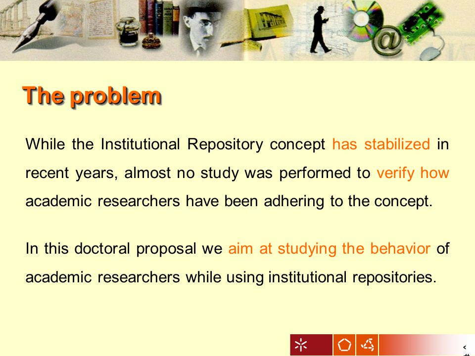 3 While the Institutional Repository concept has stabilized in recent years, almost no study was performed to verify how academic researchers have been adhering to the concept.