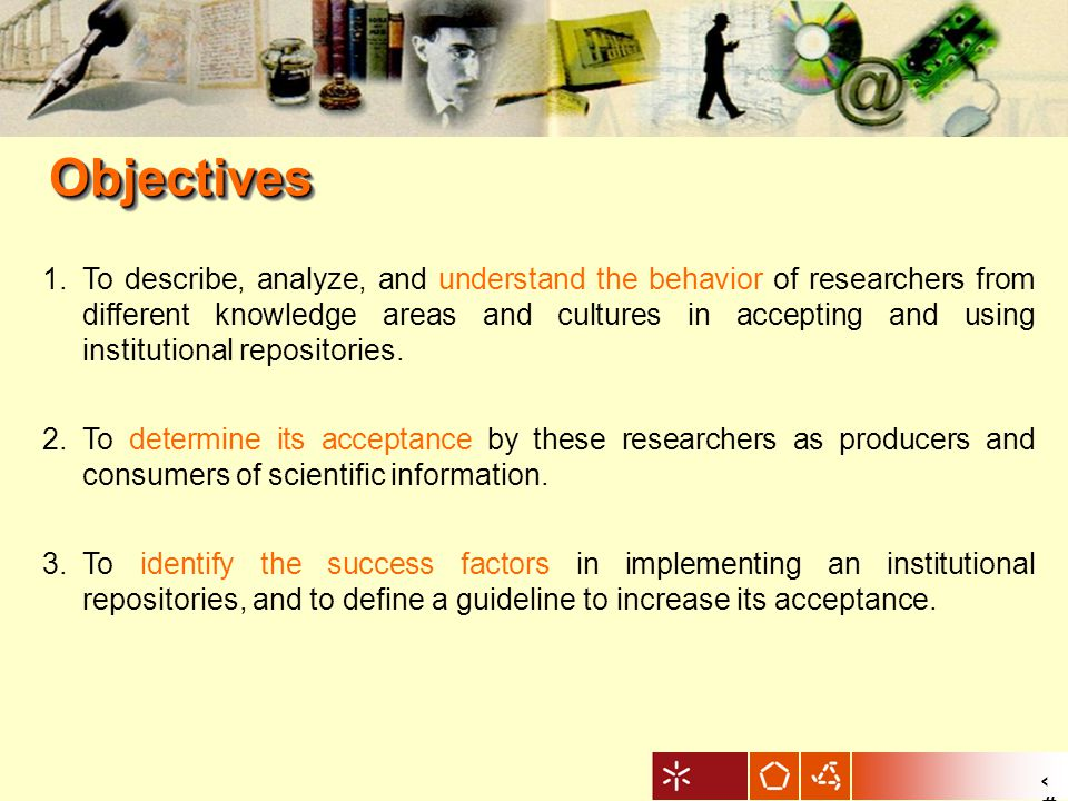 6 MethodologyMethodology Approachinterpretativism Research methodcomparative case study Techniques for data collection and analysis quantitative to define the scope of the study qualitative to understand the subjective underlying patterns of the behaviour