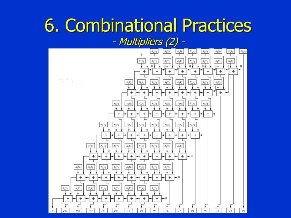 6. Combinational Practices - Multipliers (2) -