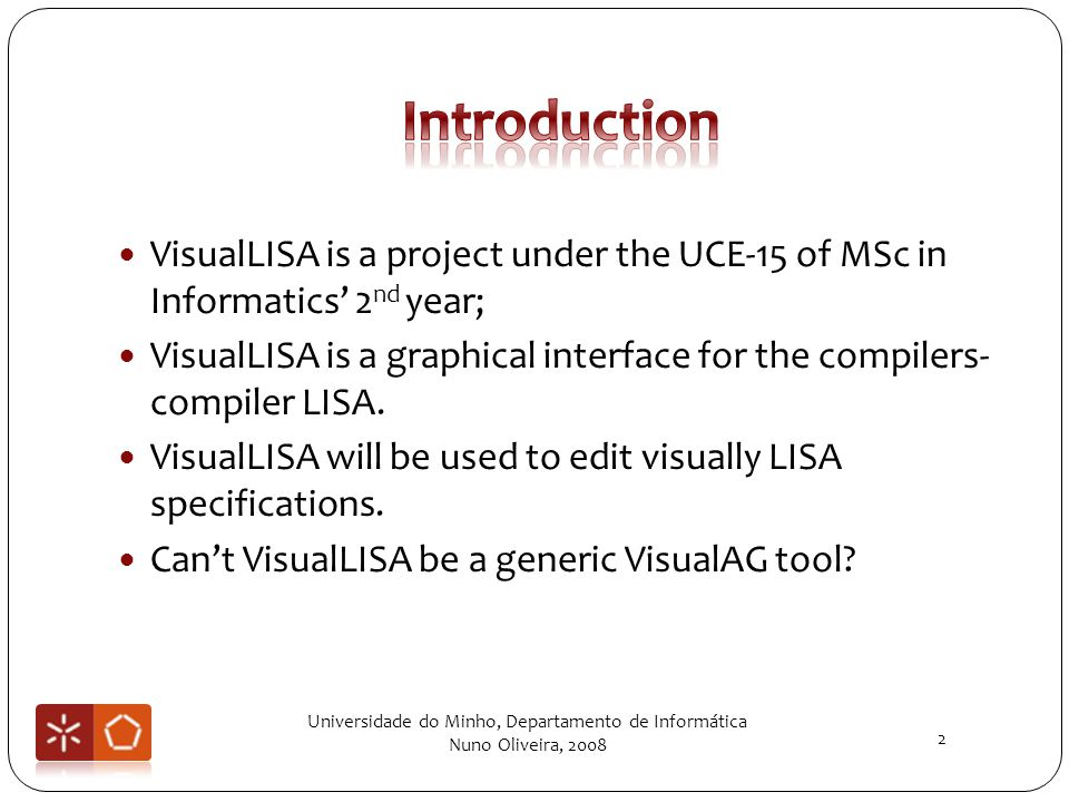 VisualLISA is a project under the UCE-15 of MSc in Informatics 2 nd year; VisualLISA is a graphical interface for the compilers- compiler LISA.