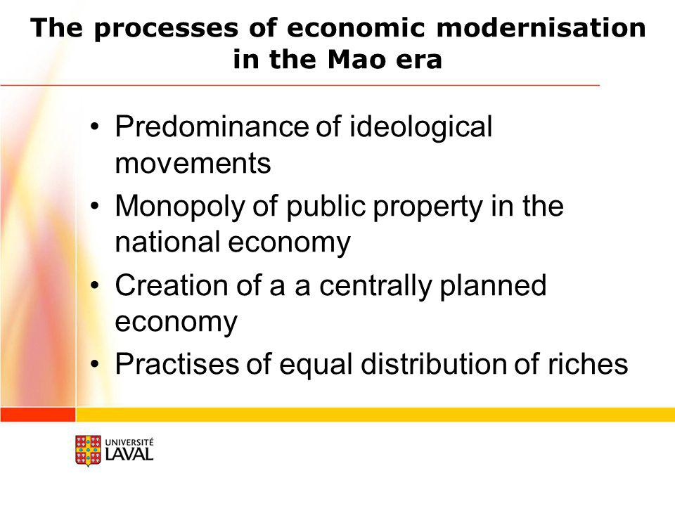 Two fundamental policy changes adopted in 1978 Reform to the economic system Reform of economic decision making mechanisms Reform of motivation mechanisms Openness to the world Introduction of capital, technologies and modern management methods from the rest of the world