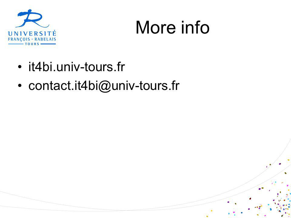 More info it4bi.univ-tours.fr contact.it4bi@univ-tours.fr