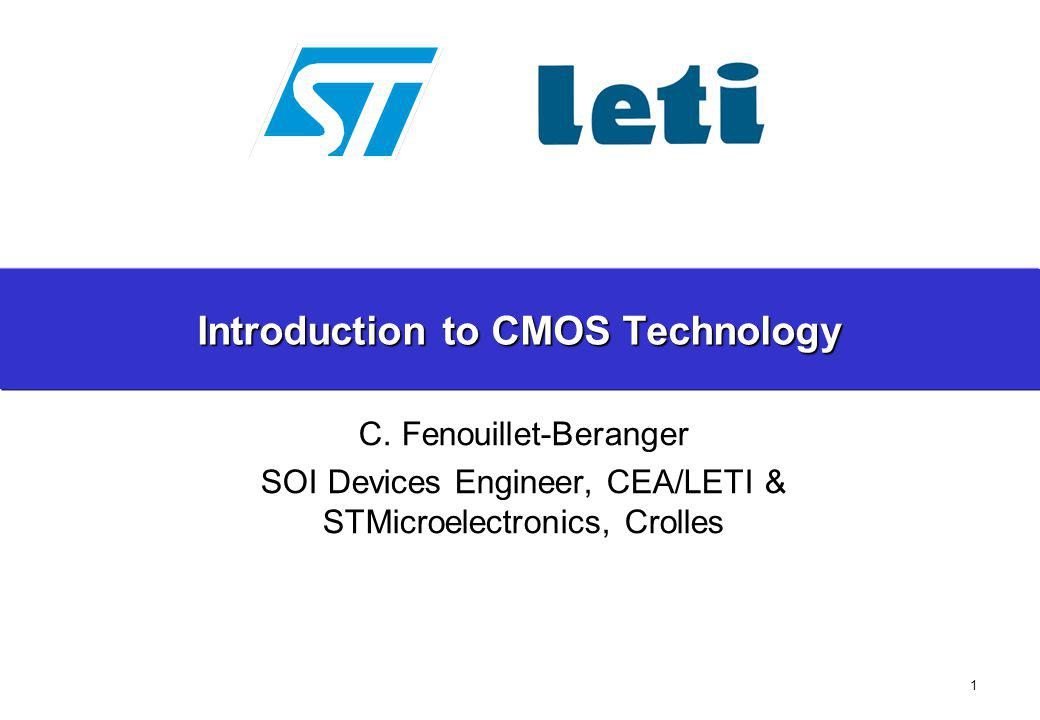 62 C.Fenouillet-Beranger; Techno des CI – PHELMA 2A 2011 Layout and basic functions