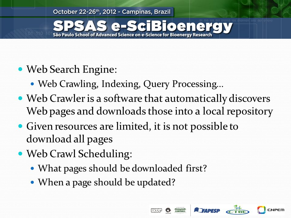 Web Search Engine: Web Crawling, Indexing, Query Processing...