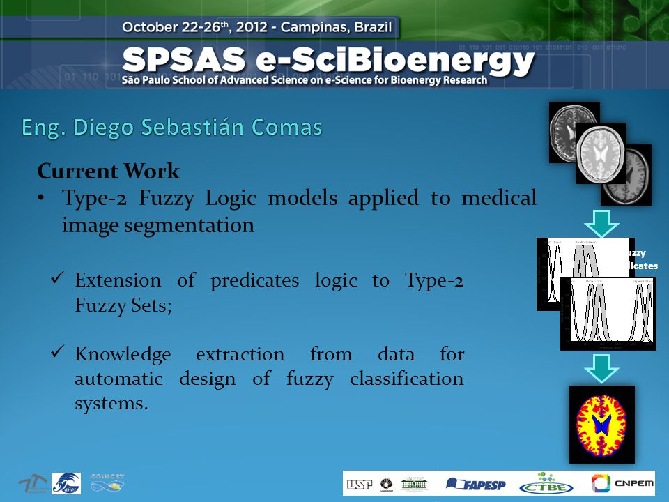 Current Work Type-2 Fuzzy Logic models applied to medical image segmentation Extension of predicates logic to Type-2 Fuzzy Sets; Knowledge extraction from data for automatic design of fuzzy classification systems.