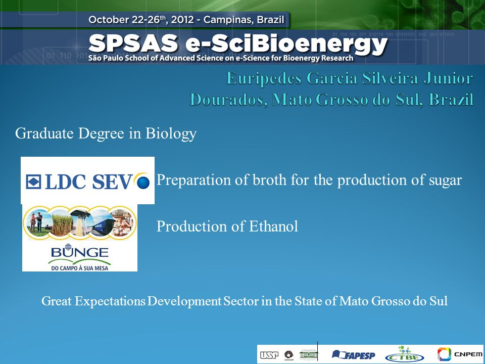 Graduate Degree in Biology Preparation of broth for the production of sugar Production of Ethanol Great Expectations Development Sector in the State of Mato Grosso do Sul