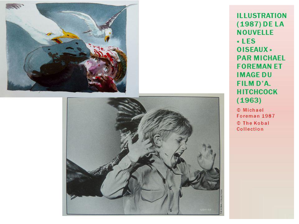 © Michael Foreman 1987 © The Kobal Collection ILLUSTRATION (1987) DE LA NOUVELLE « LES OISEAUX » PAR MICHAEL FOREMAN ET IMAGE DU FILM DA.