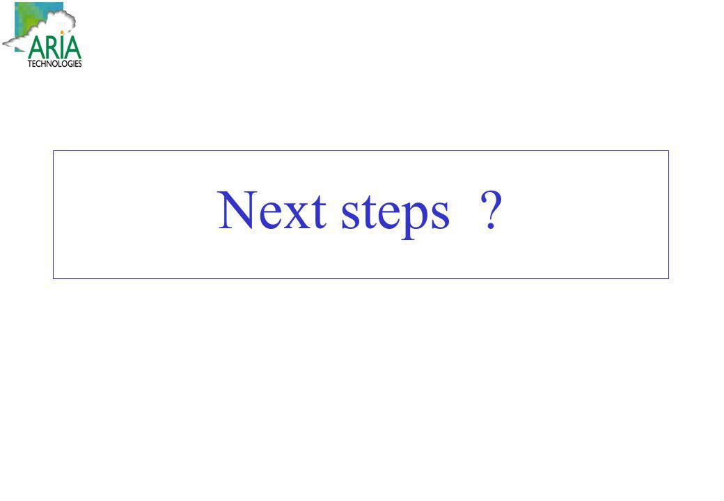 Next steps ?