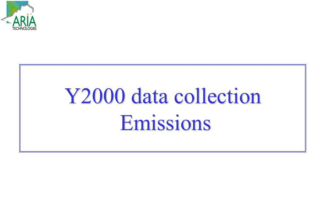 Y2000 data collection Emissions