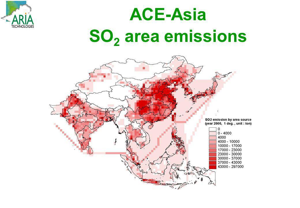ACE-Asia SO 2 area emissions