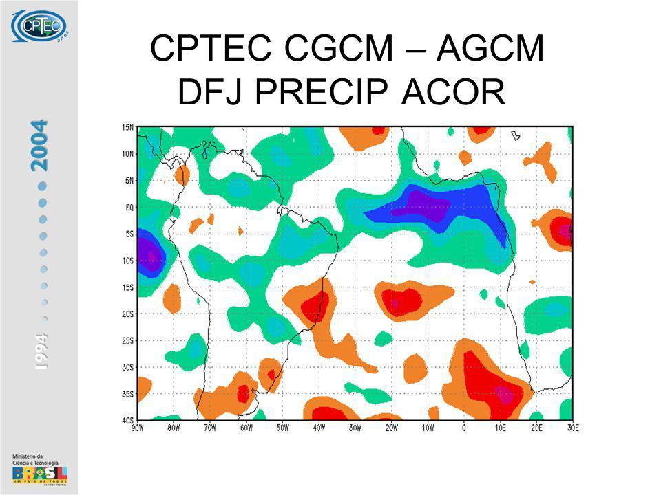 CPTEC CGCM – AGCM DFJ PRECIP ACOR