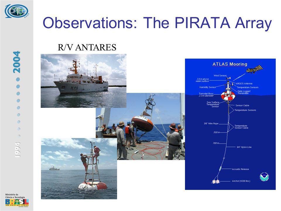 Observations: The PIRATA Array R/V ANTARES