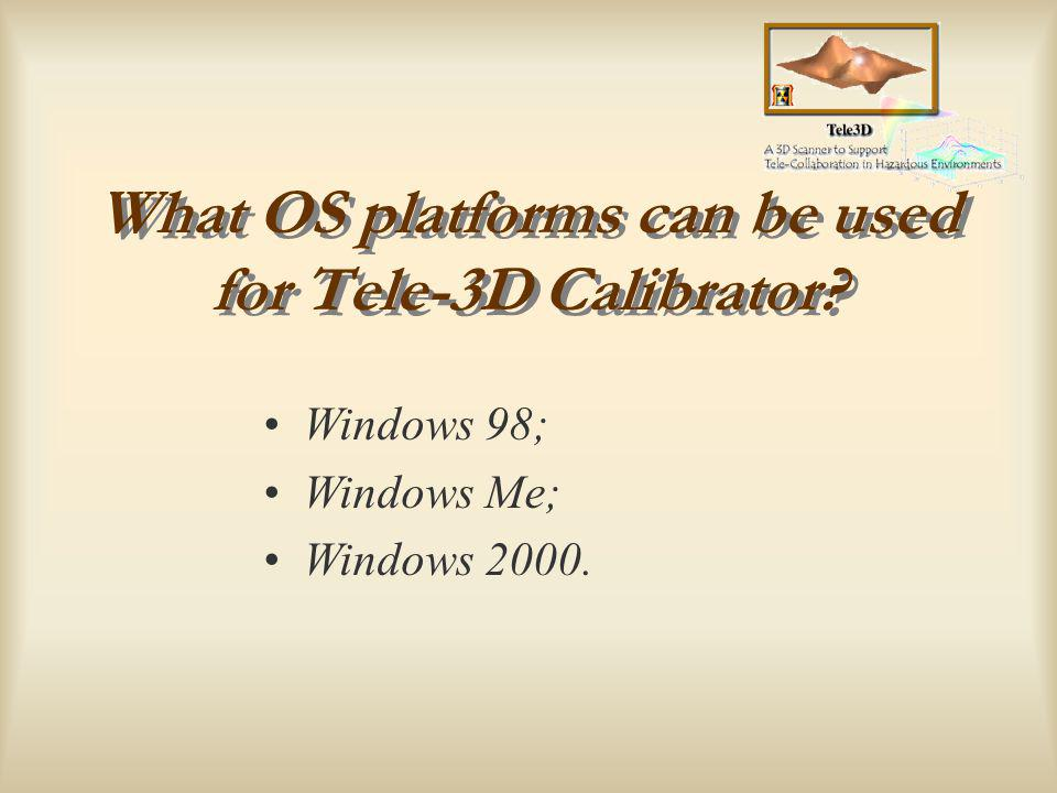 Where can Tele-3D Calibrator be found.