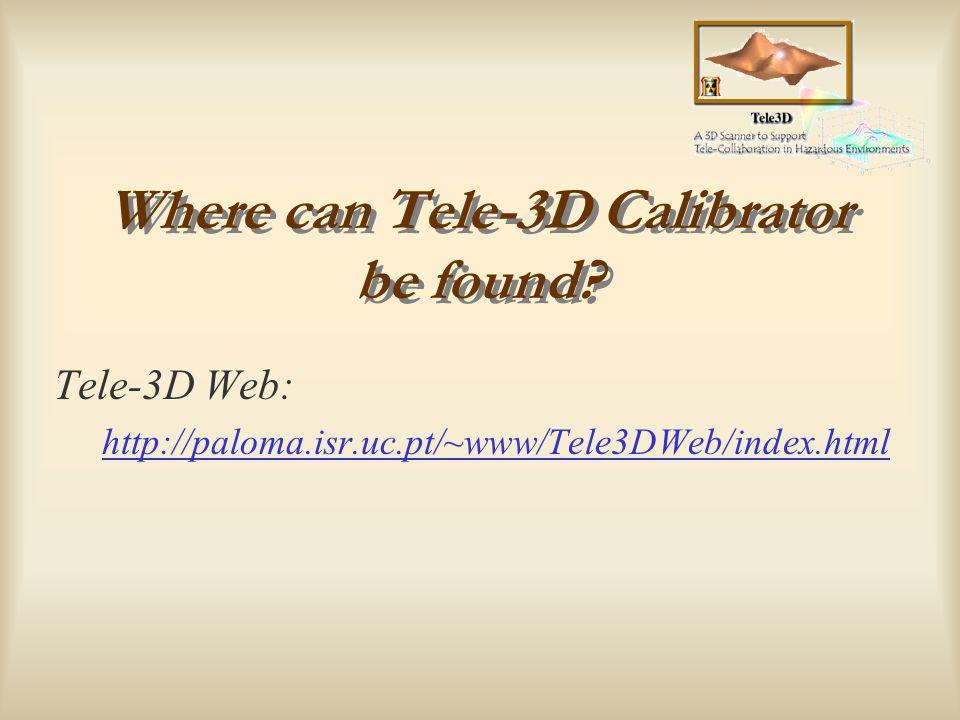 Instituto de Sistemas e Robótica TELE-3D Calibrator Camera Calibration Using Intel OpenCV Library