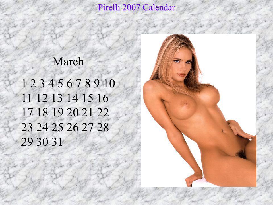 April 1 2 3 4 5 6 7 8 9 10 11 12 13 14 15 16 17 18 19 20 21 22 23 24 25 26 27 28 29 30 Pirelli 2007 Calendar