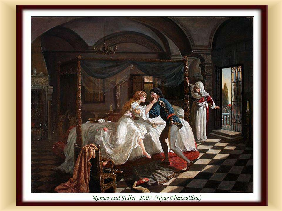 Romeo & Juliet before Friar Lawrence by K.L.F Becker (1820-1900)