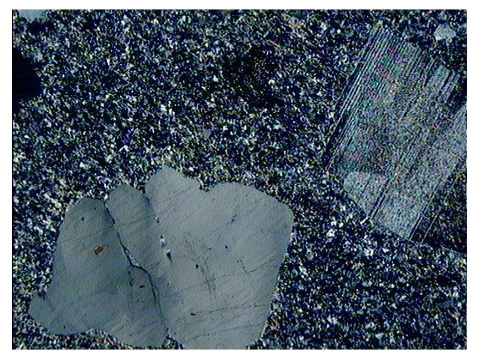 Texture microlitique porphyrique LPA