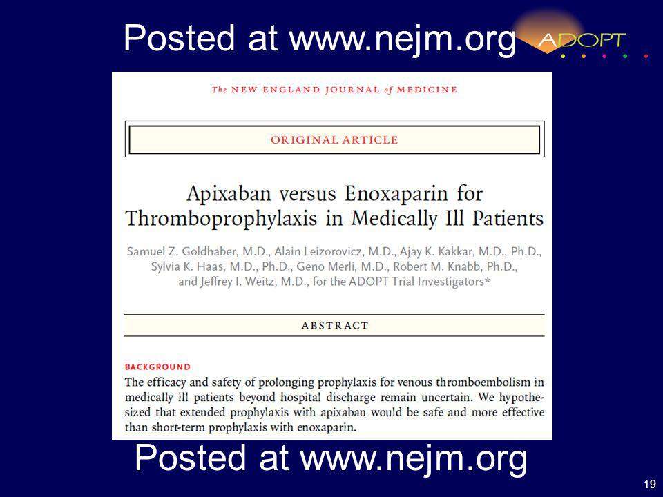 19 Posted at www.nejm.org