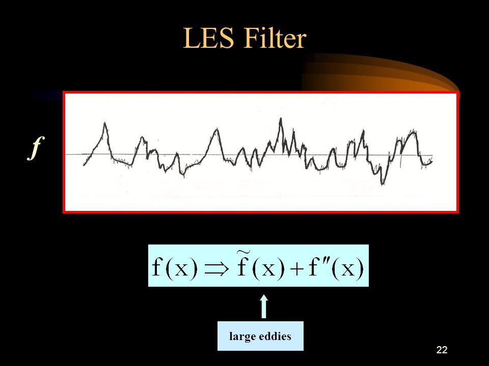 22 LES Filter f large eddies