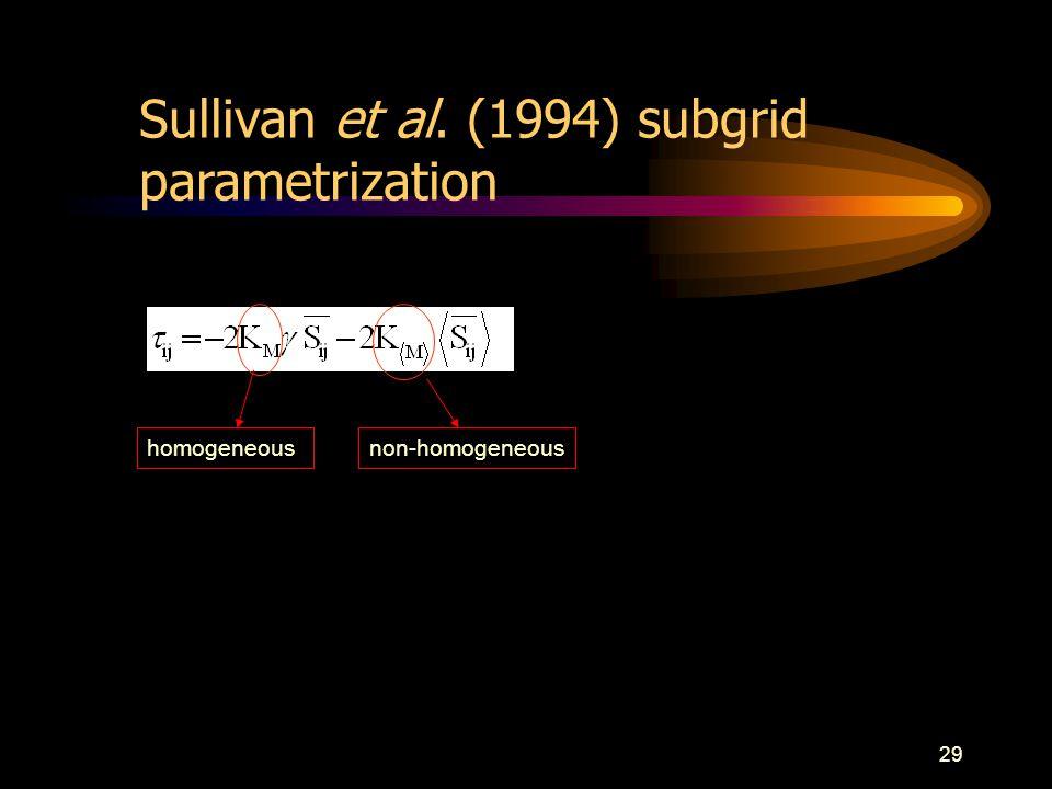 29 homogeneousnon-homogeneous Sullivan et al. (1994) subgrid parametrization
