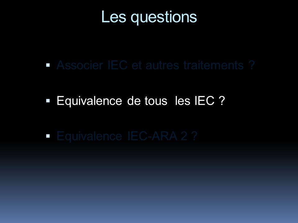 Les questions Associer IEC et autres traitements .