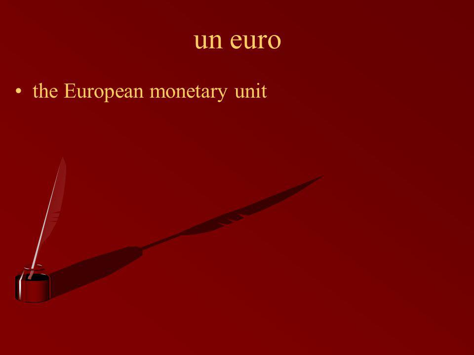 un euro the European monetary unit