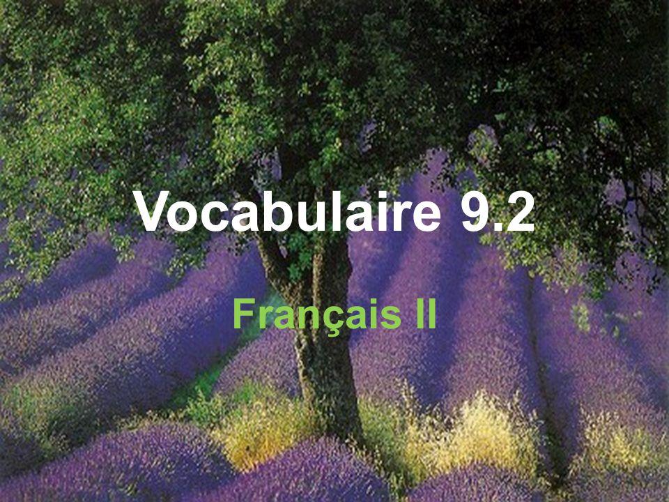 Vocabulaire 9.2 Français II